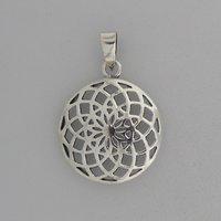 Zilveren Hanger Flower of Life