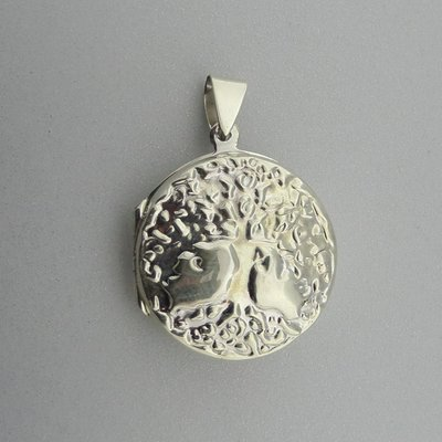 Zilveren Hanger Medalion Levensboom