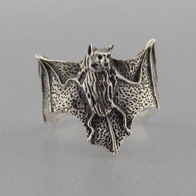 Zilveren Ring Vleermuis