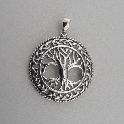 Zilveren Hanger Levensboom met Keltische knoop