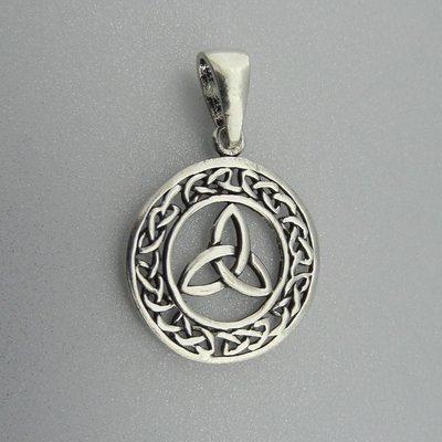Zilveren Hanger Keltische Cirkel met Triquetra