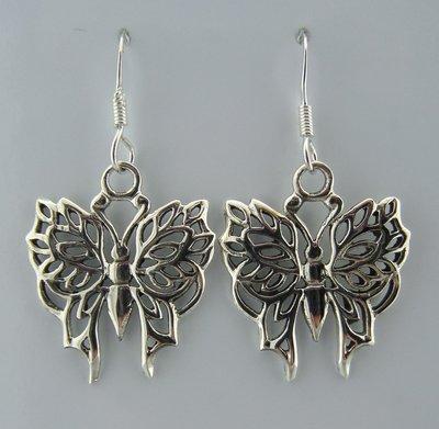 Zilveren Oorbel Vlinder