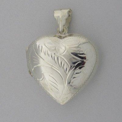 Zilveren Hanger Medallion hart