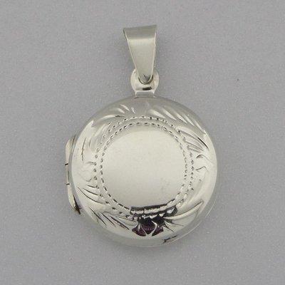 Zilveren Hanger Medallion Rond