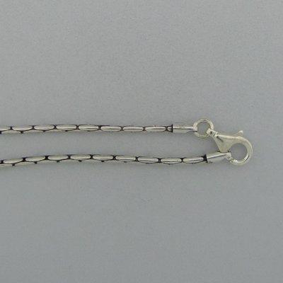 Zilveren Ketting Slang 45 cm