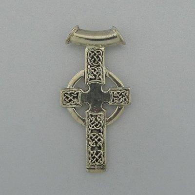 Zilveren Hanger Keltisch Kruis aan buisje