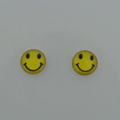 Zilveren Oorsteker Smiley
