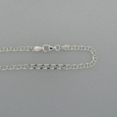 Zilveren Ketting schakel Lengte 50 cm