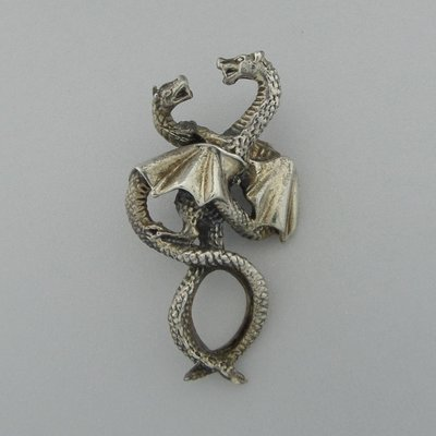 Zilveren Hanger Dansende Draken