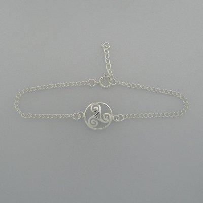 Zilveren Armbandje Triskel