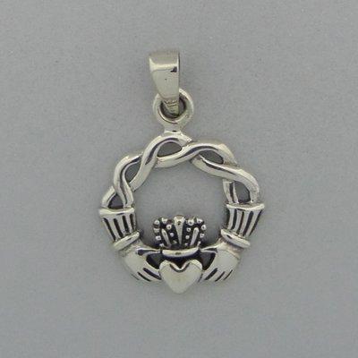 Zilveren Hanger Claddagh