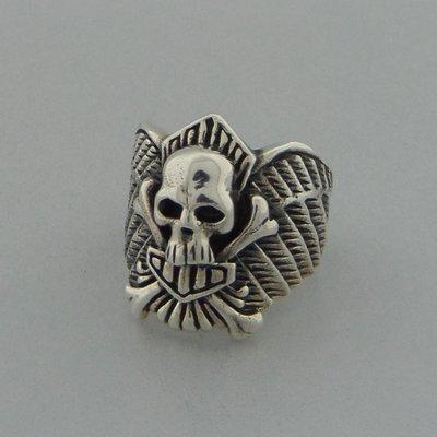 Zilveren Ring Doodshoofd
