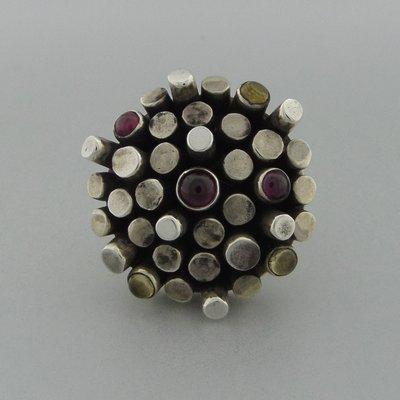 Zilveren Ring met Edelstenen