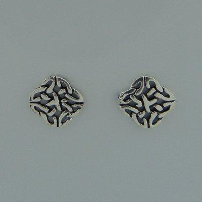 Zilveren Oorstekers Celtic Triquetra