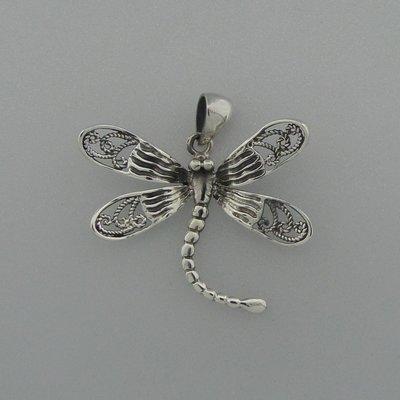 Zilveren Hanger Libelle