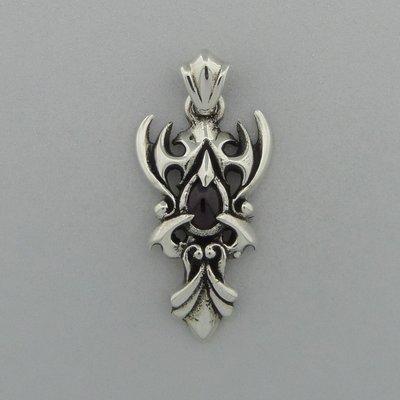 Zilveren Hanger Tribal met Carneool steentje