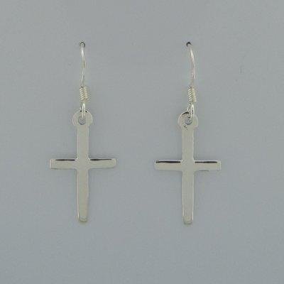 Zilveren Oorbel Kruisjes