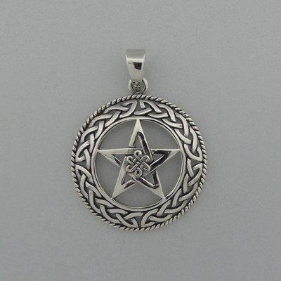 Zilveren Hanger Keltische Pentagram