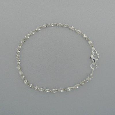 Zilveren Armband Gekruld 18,5 cm