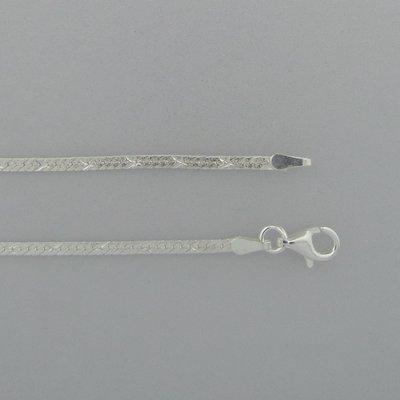 Zilveren Ketting plat
