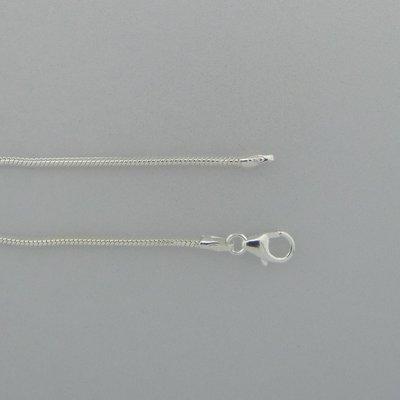 Zilveren Ketting slangvormig 45 cm