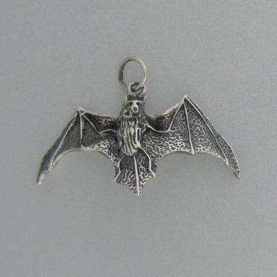 Zilveren Hanger Vleermuis
