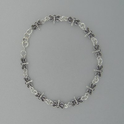 Zilveren Armband Libelle