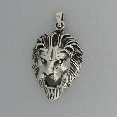 Zilveren Hanger Leeuwenkop
