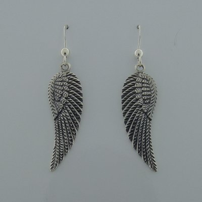 Zilveren Oorbel Vleugels