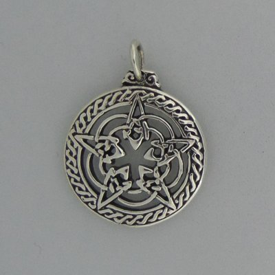 Zilveren Hanger Pentagram