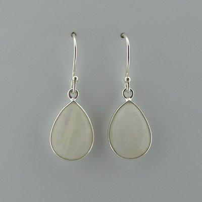Zilveren Oorbel Maansteen