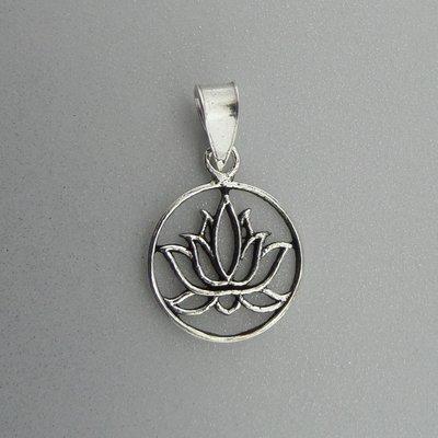 Zilveren Hanger Lotus