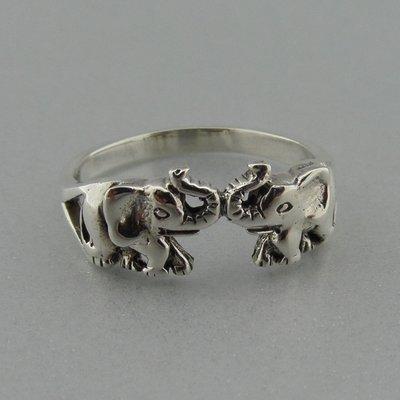 Zilveren Ring Olifanfjes