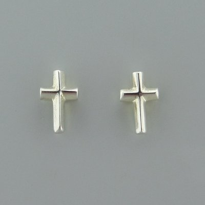 Zilveren Oorstekers Kruisje