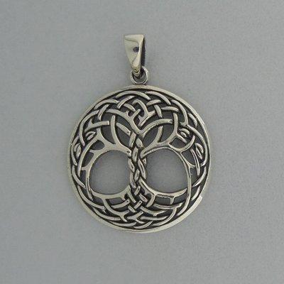 Zilveren Hanger Keltische Levensboom