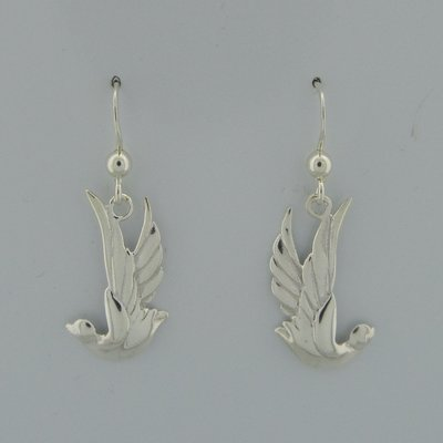 Zilveren Oorbel Vogel