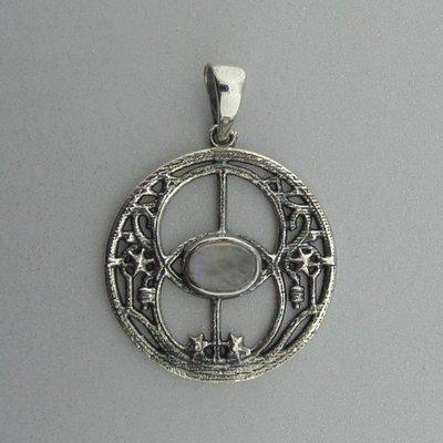 Zilveren Hanger Chalice Well met Maansteen
