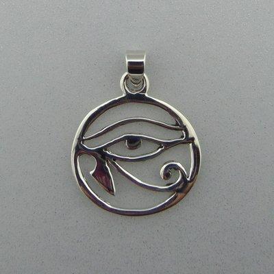 Zilveren Hanger Oog van Horus