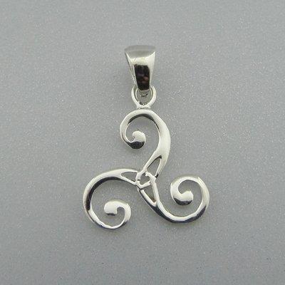 Zilveren Hanger Triskel