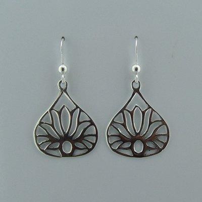 Zilveren Oorbel Lotus