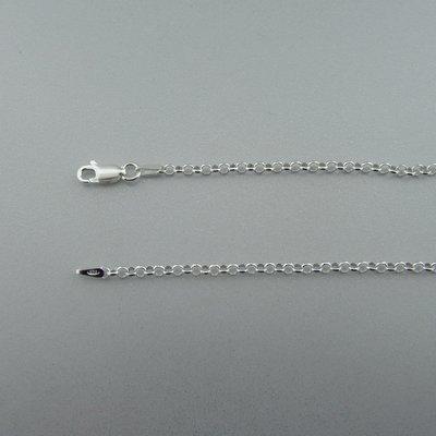 Zilveren Ketting Jasseron 80 cm