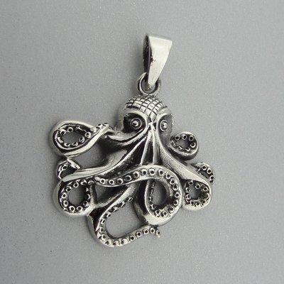 Zilveren Hanger Inktvis