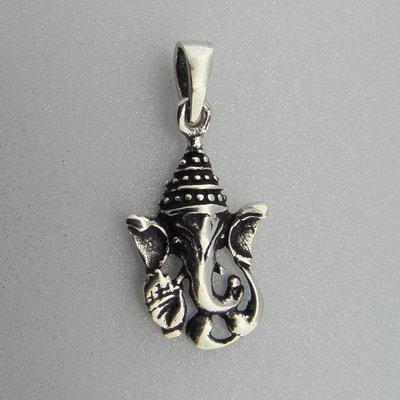 Zilveren Hanger Ganesha