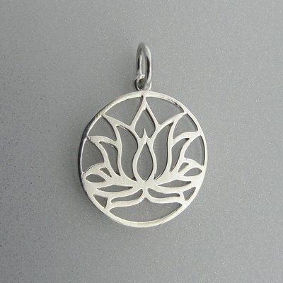 Zilveren Hanger Lotus Bloem