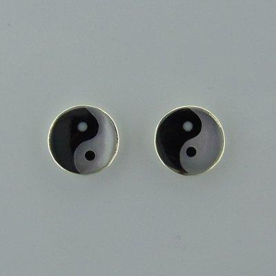 Zilveren Oorstekers Yin Yang
