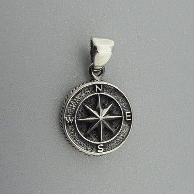 Zilveren Hanger Kompas