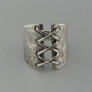Zilveren Ring Corset