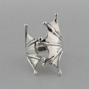Zilveren Ring Vleermuis Vleugels