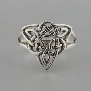 Zilveren Ring Keltische Knoop Triquetra