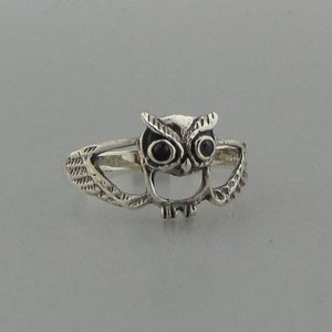 Zilveren Ring Uil